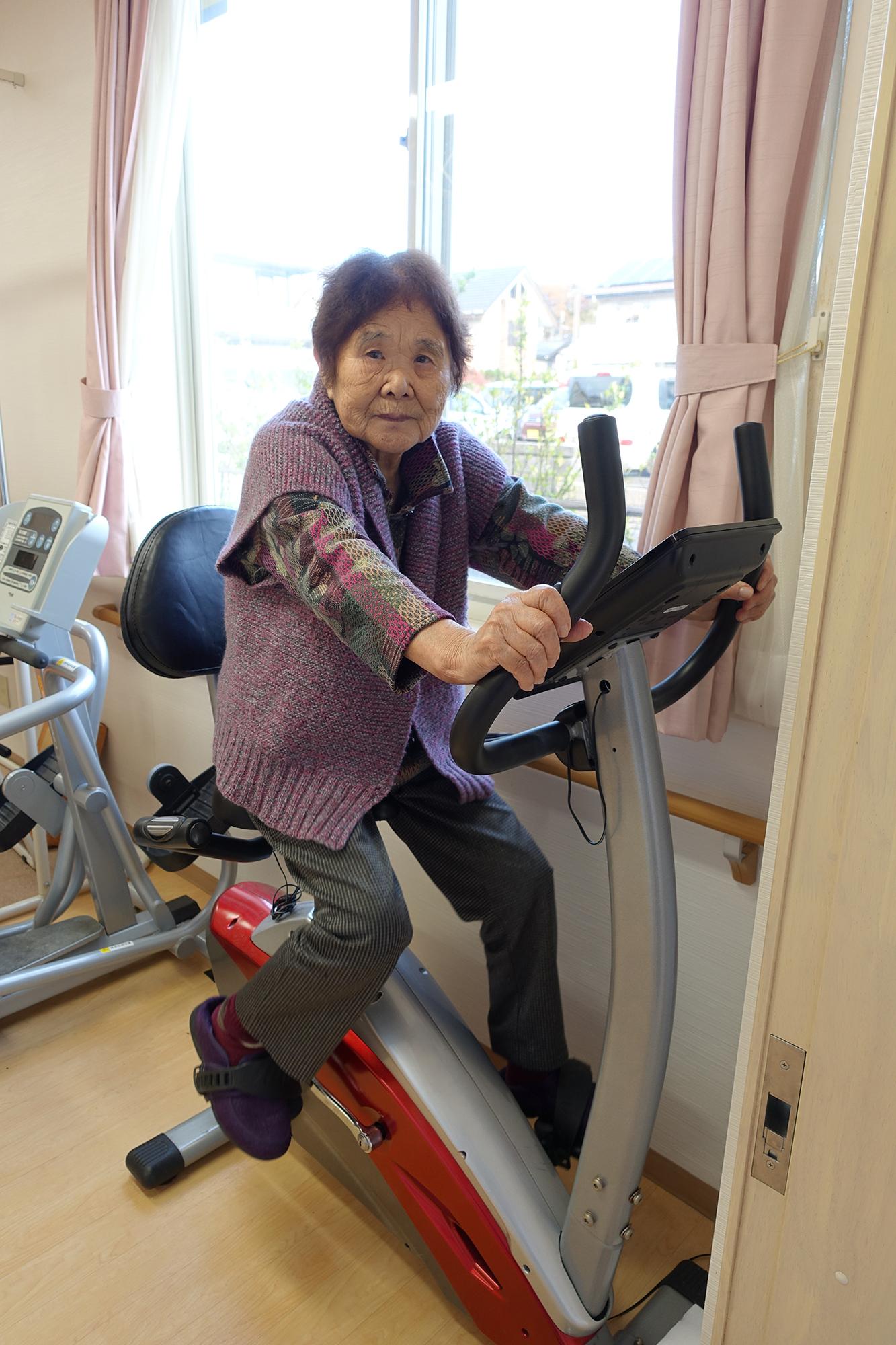 歩行継続のためのエアロバイク
